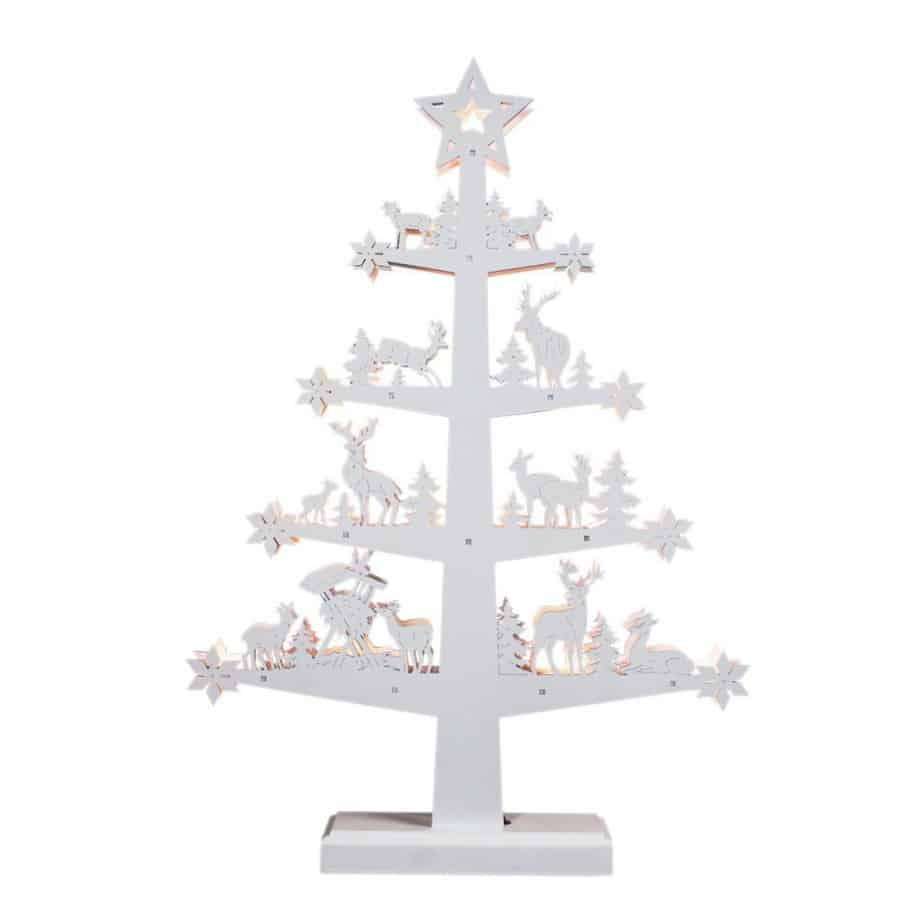 mini white christmas tree
