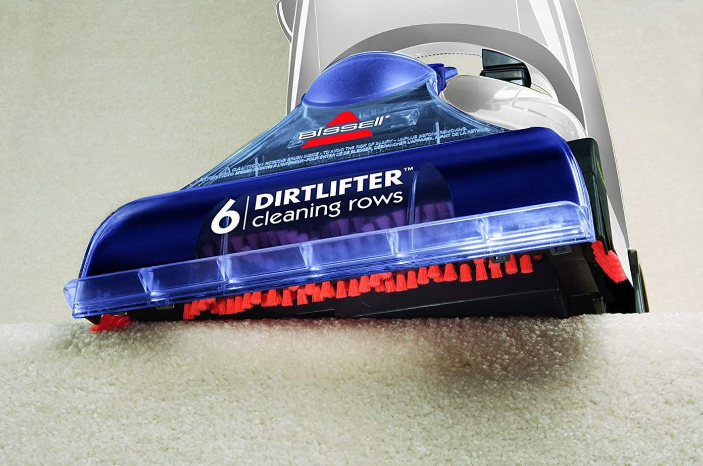 BISSELL Cleanview Proheat Carpet Cleaner 6 row carpet brushes