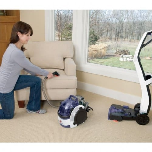 Bissell Lift Off Carpet Cleaner detached
