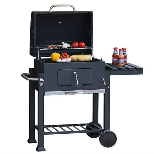 Apart from assembling taking a while to put together, the Toronto Trolley Grill is easy to work with and very well made, nice and sturdy, very solid piece of kit.   The bottle opener and utensil hooks are also bonus features that will make for a great BBQ party. Overall is a simple but well made BBQ and should last for many years. At a little over £100 when we reviewed this model, it also offers excellent value for money.