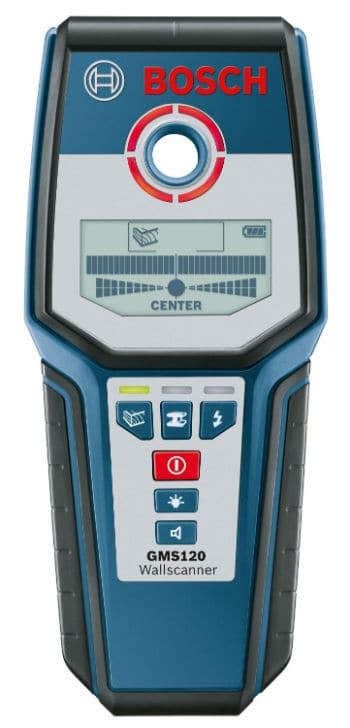 The Bosch GMS120 Digital Multi-Scanner can detect studs made from various materials making it perfect for a range of tasks. It can sense wood studs, metal, copper pipes, live wiring and even rebar up to 4-3/4-Inch (120mm) deep into concrete . This is a true professional multi-purpose stud.