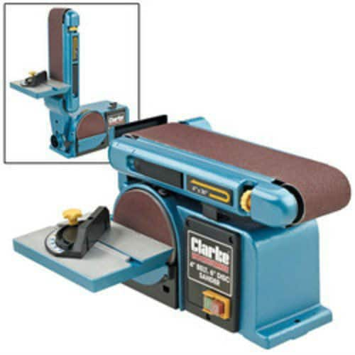 CLARKE CS4-6D WOODWORK CARPENTERS BELT DISC AND SANDER