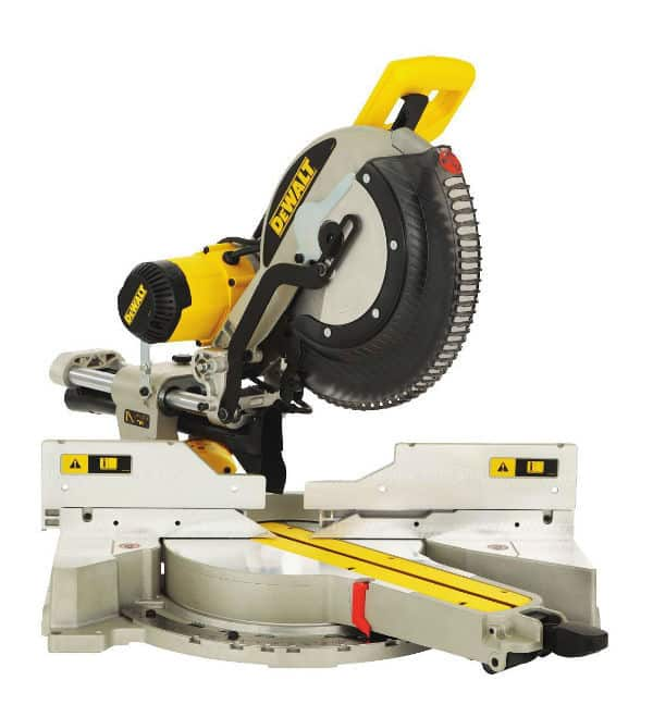 The DeWalt 230V 305mm Compound Slide Mitre Saw with XPS is an outstanding mitre saw with a brighter XPS system, good dust extraction and increased portability.