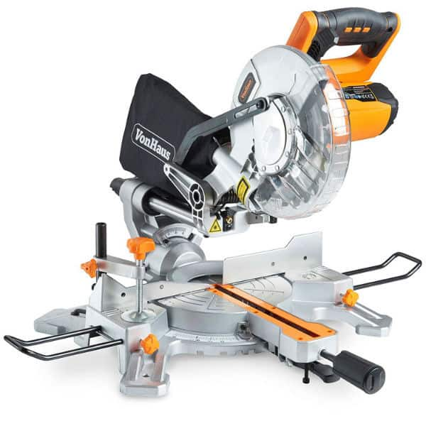"The VonHaus 1500W 8"" (210mm) Sliding Mitre Saw is a cheap tool that will make those straight cuts through a variety of materials. It is not of the same quality like the reputable brands such as DeWalt or Makita but it offers value for the money."