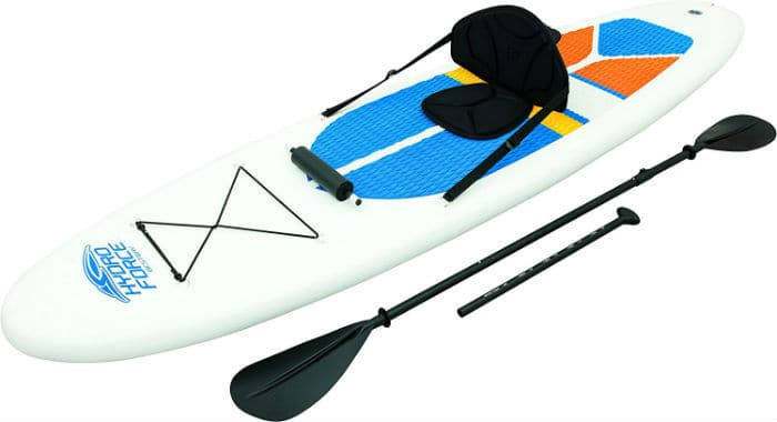 Hydro-Force 10ft Inflatable Stand Up Paddle board Sup With Kayak Set Review