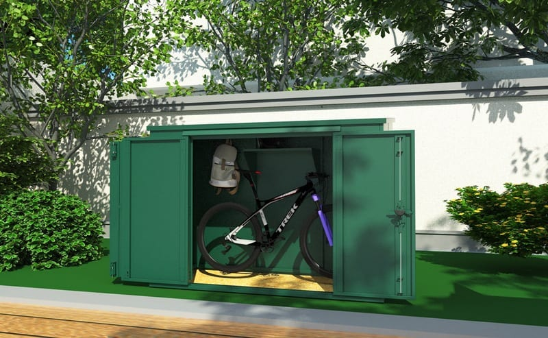 Out Box 6 x 3 bike storage