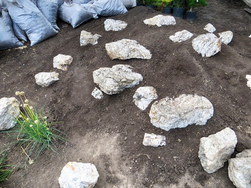 preparing a site for a rockery