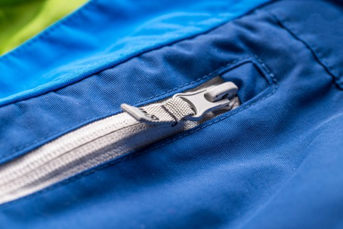 Light weight jacket pocket and sealed seams
