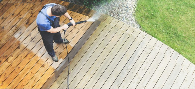 How to clean a patio or decking with a pressure washer