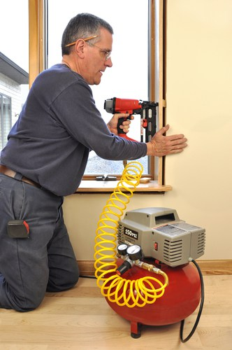 What types of air tools can be used with air compressors?