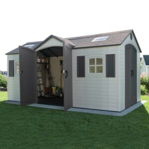 Lifetime 15 ft. W x 8 ft. D Apex Plastic Shed review