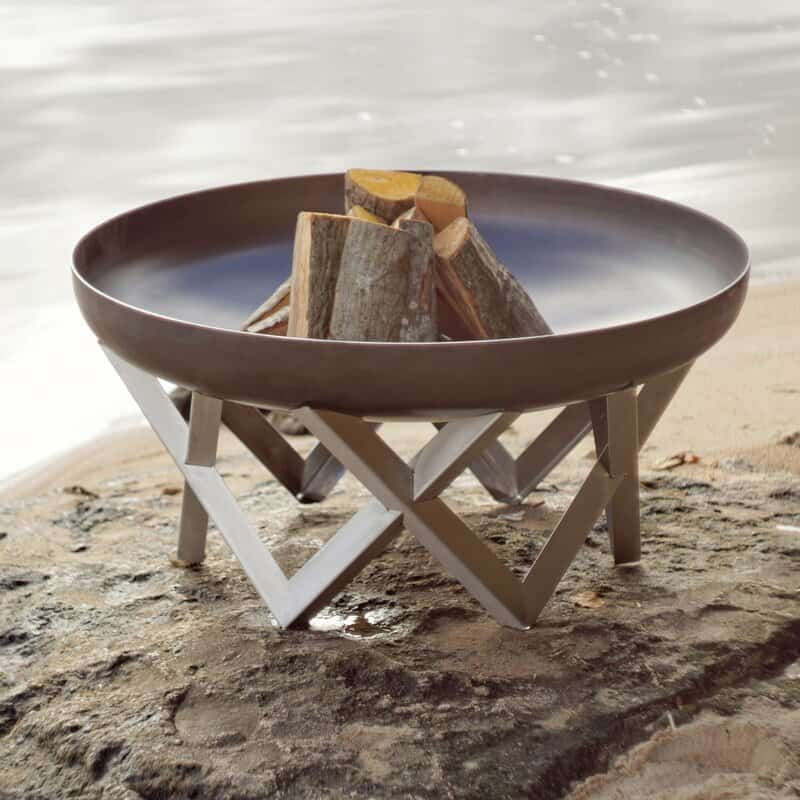 Pond Stainless steel fire pit